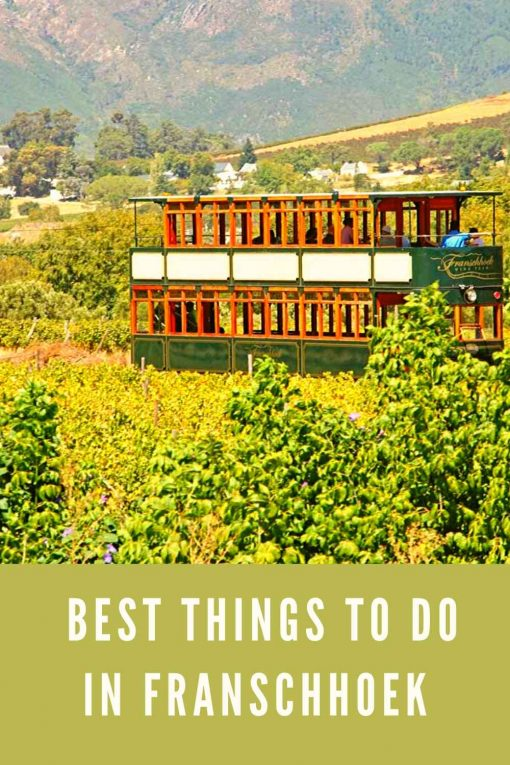 Things to do in Franschhoek South Africa pin