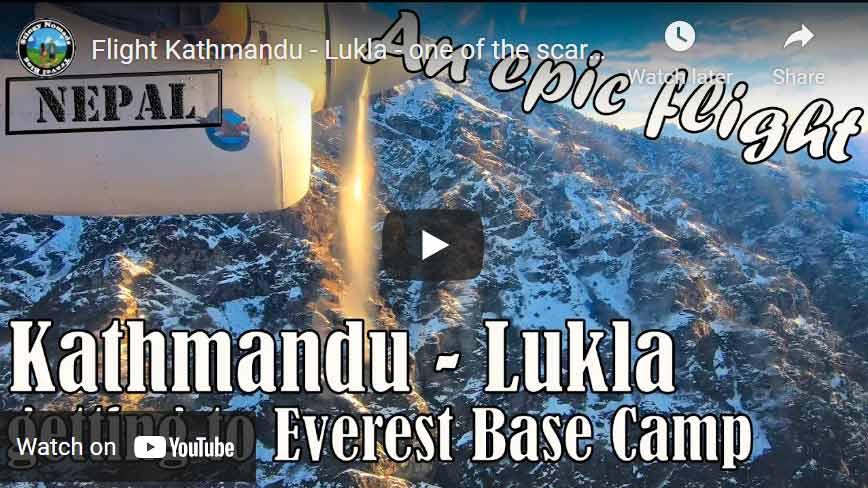 YouTube video thumbnail for flight Kathmandu to Lukla