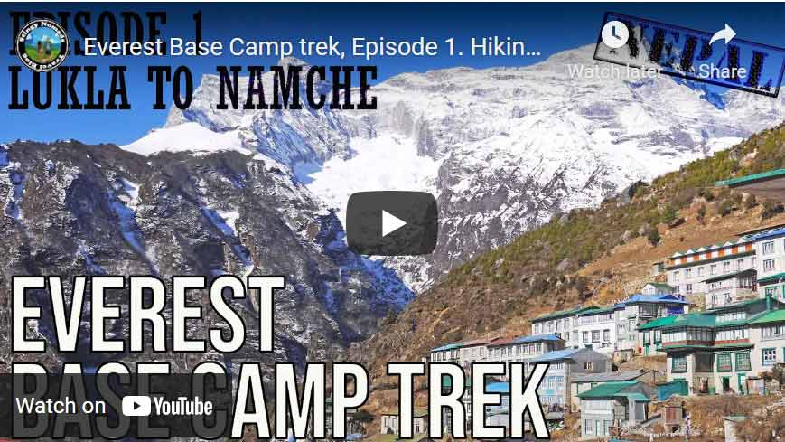 YouTube video thumbnail about trekking in Nepal