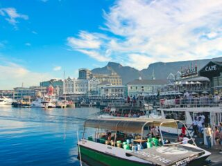 V&A Waterfront at the sunset the best time of the day to see it