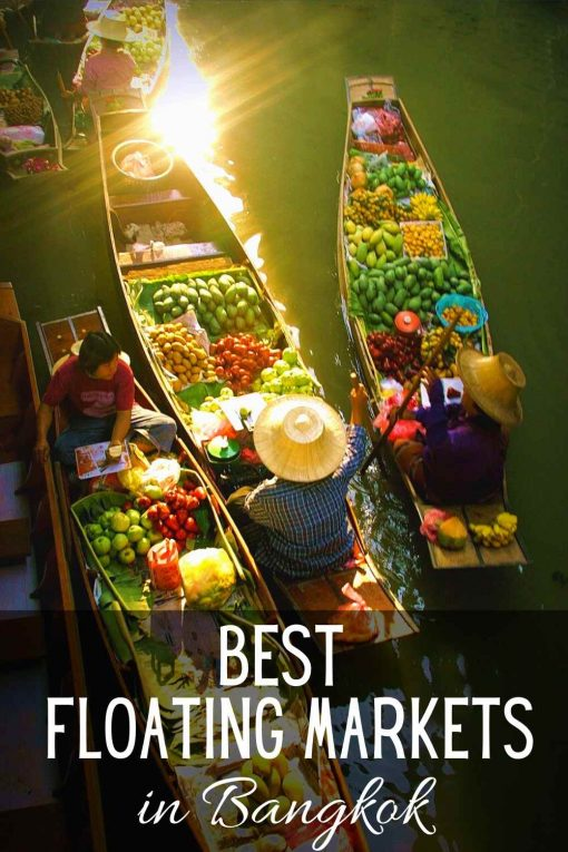 Best floating markets in Bangkok Thailand