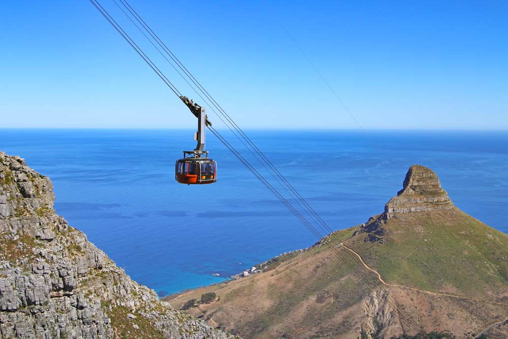 A ride in the cable car is one of the things to do in Cape Town