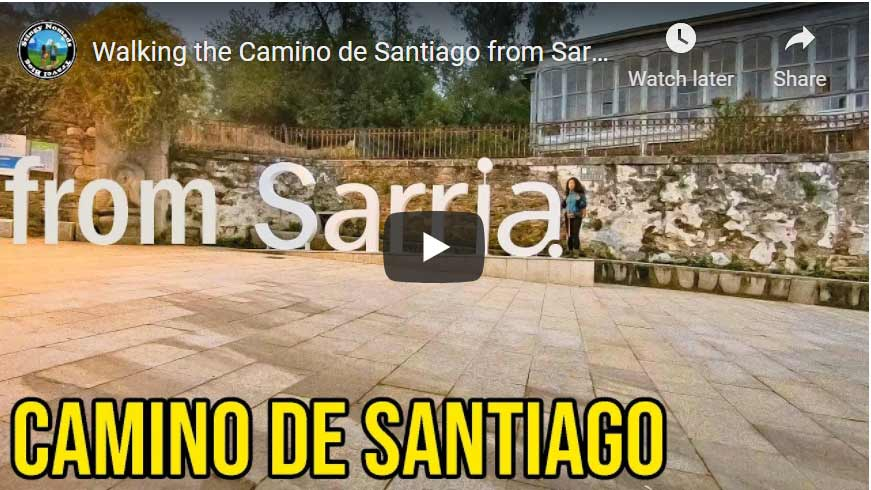 YouTube thumbnail Camino Frances from Sarria