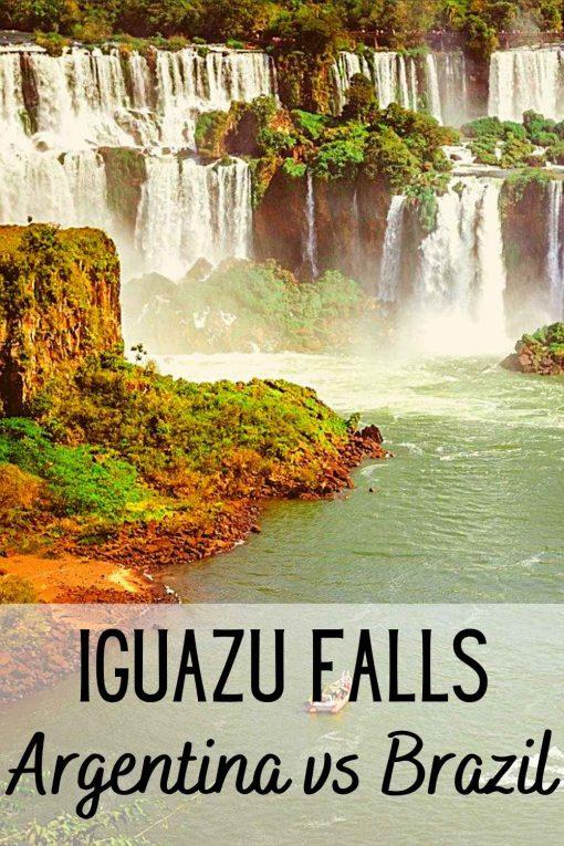 Iguazu Falls Argentina vs Brazil side