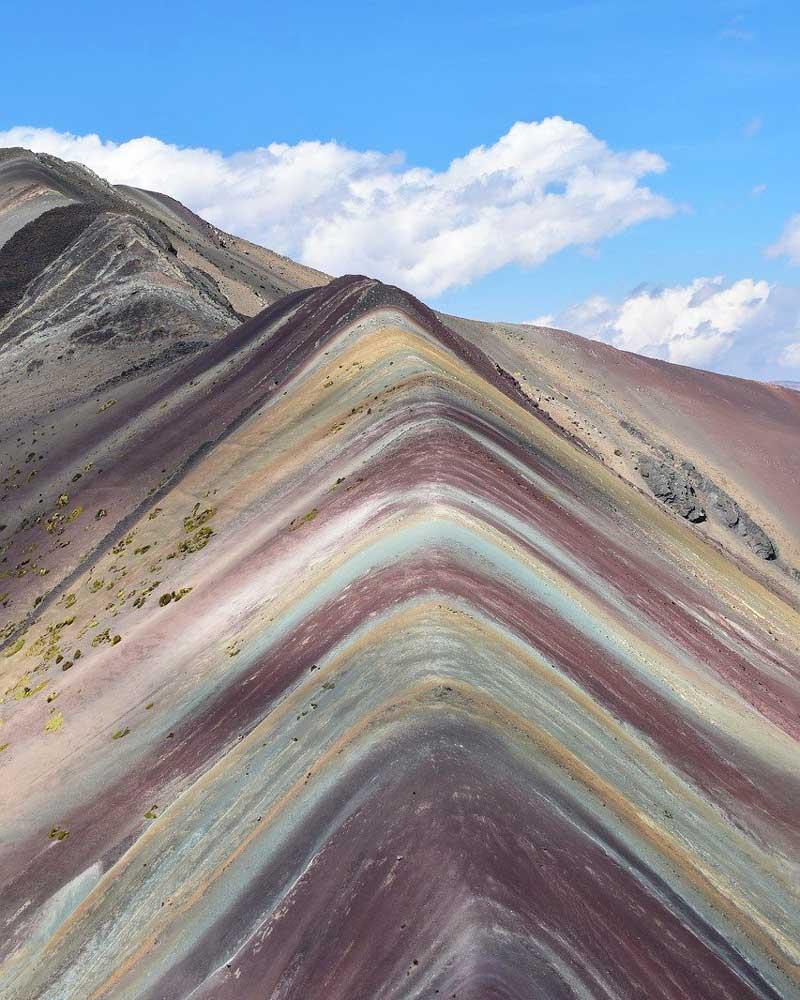 Colorful Rainbow Mountain on the Ausangate trek in Peru