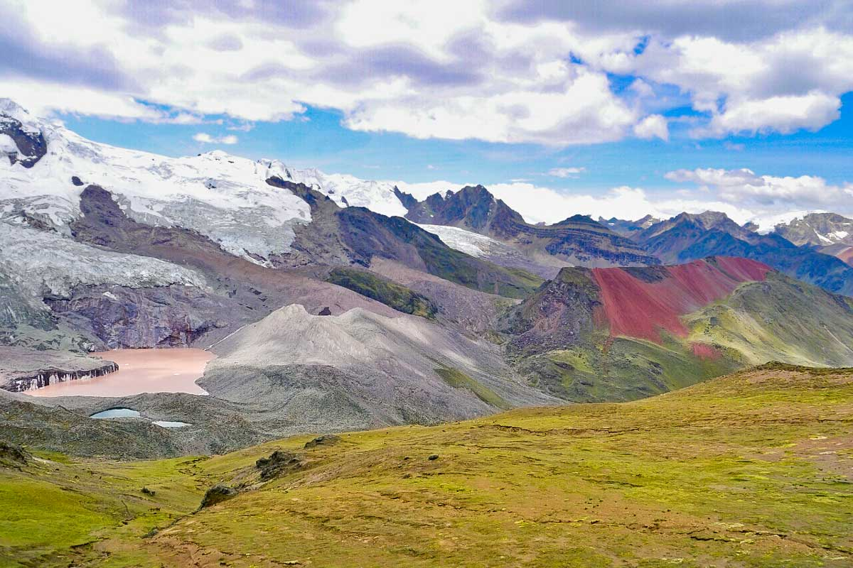 Breathtaking scenery of the Peruvian Andes on the trek