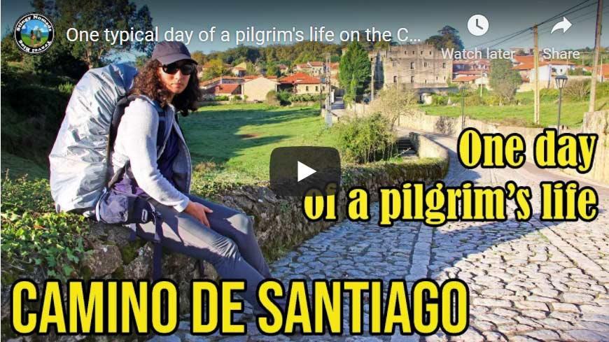 A pilgrim's day on the Camino YouTube thumbnail