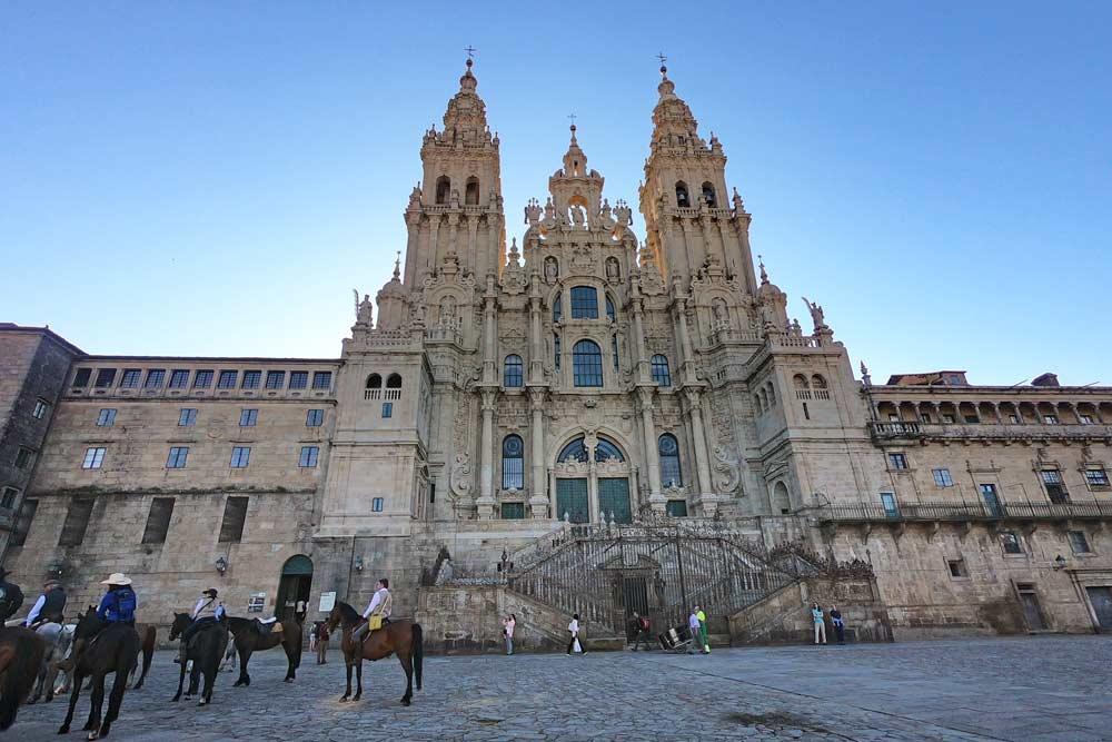 The Cathedral of Santiago and the Plaza Obradoiro, Spain