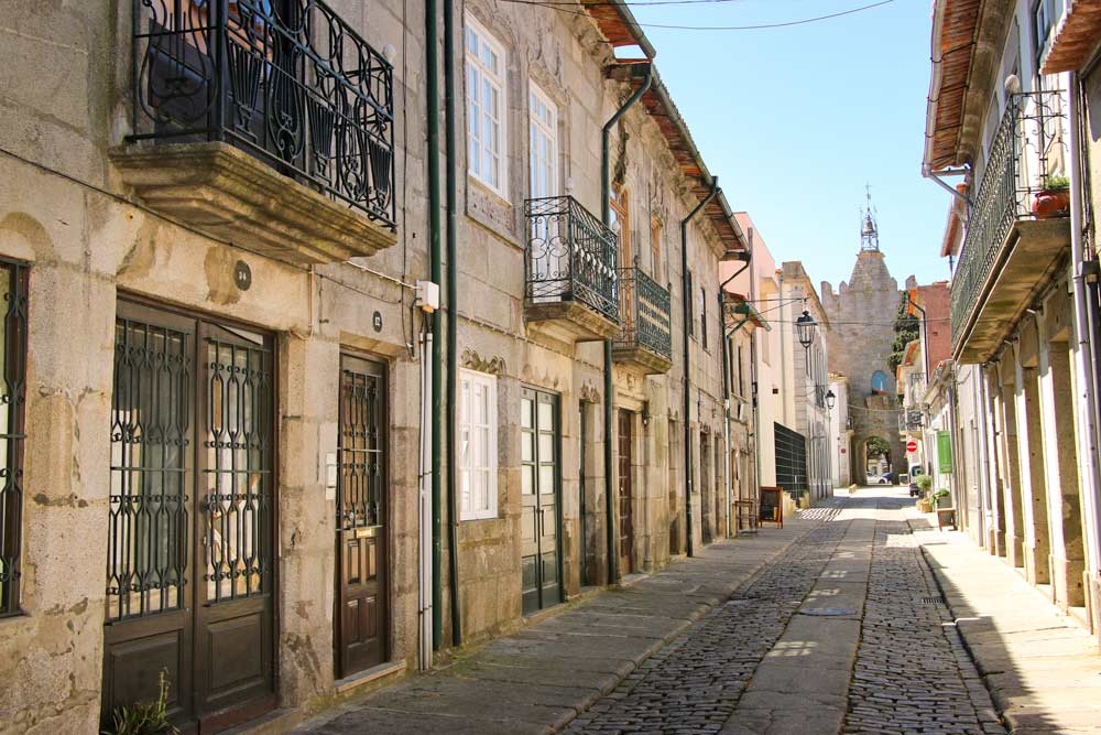 A charming street of Caminha, a town on the Coastal Route of the Portuguese Camino
