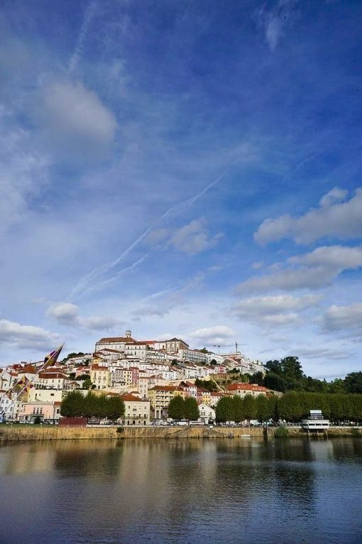 View of the historical center of Coimbra from the river