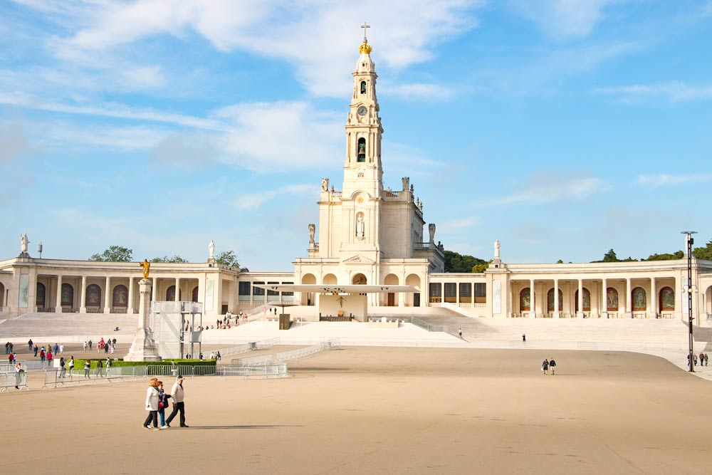 The beautiful complex of the Sanctuary of Our Lady of Fátima
