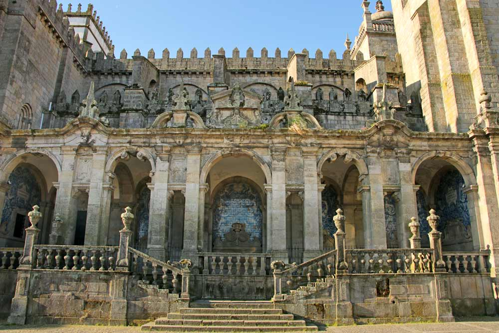 The beautiful Sé Cathedral of Porto