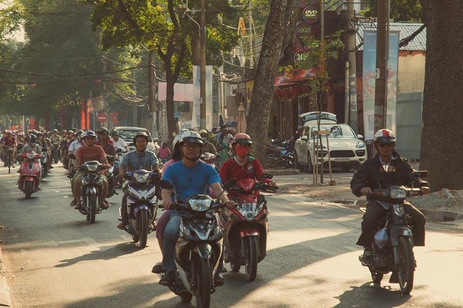vietnam motorbike street