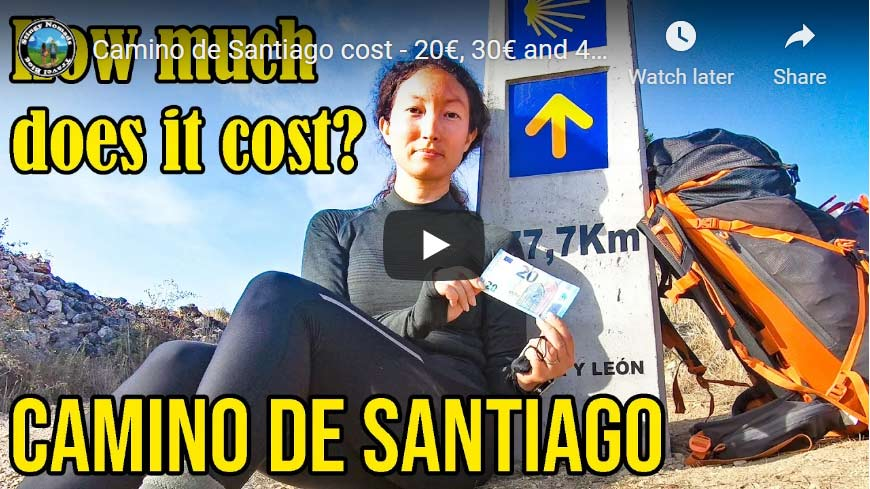 Camino de Santiago cost of walking video thumbnail