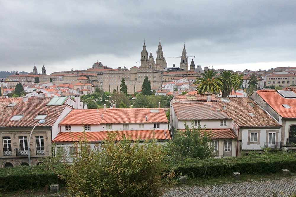 The Cathedral from the Alameda Park in Santiago de Compostela