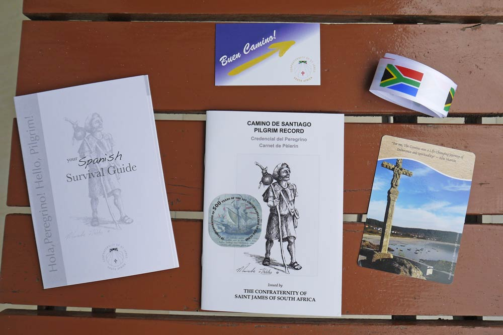 A Credential and some other pilgrim's attributes for the Camino de Santiago