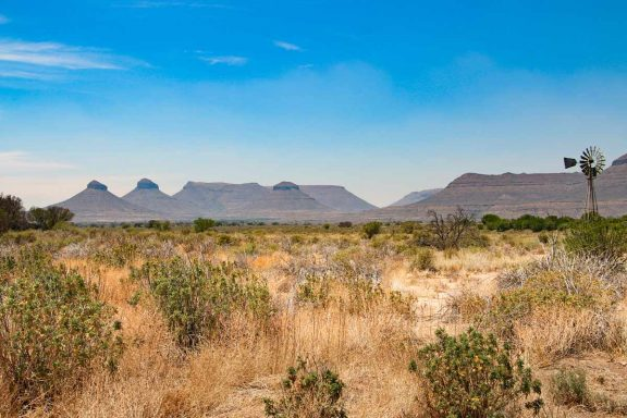 A typical scenery of the Northern Cape in South Africa