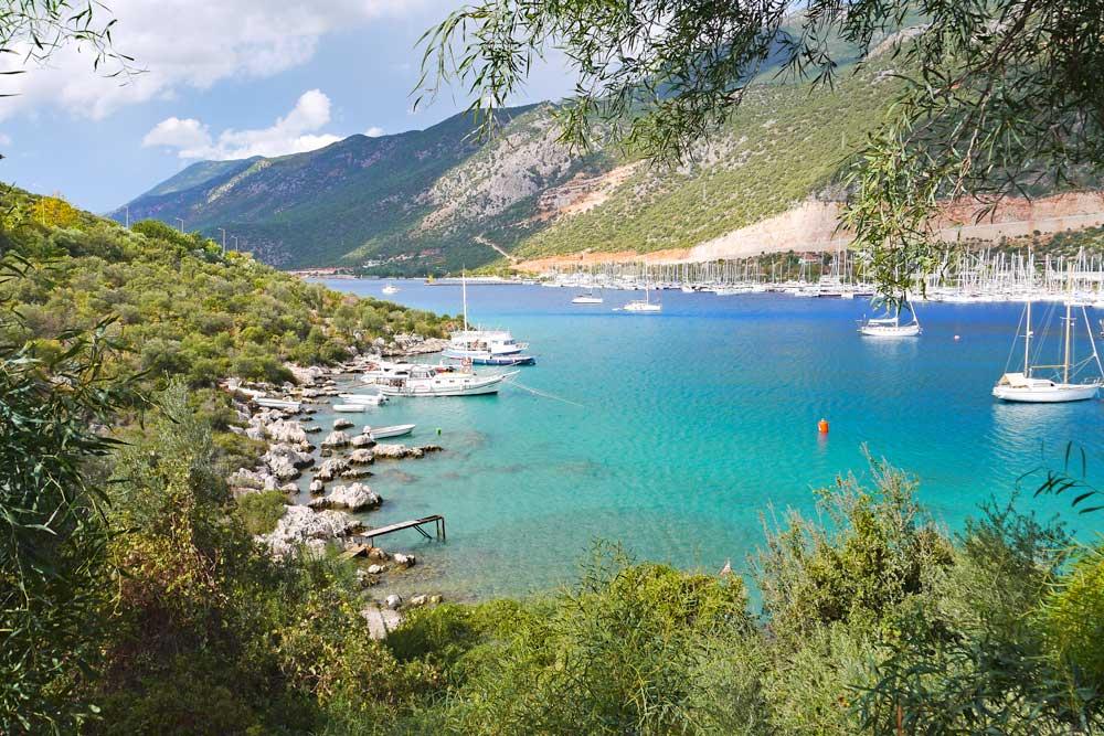 Coastline of the beautiful town Kas in Antalya province.