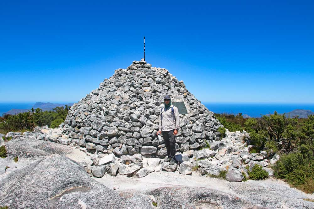 Campbell at the end of the Maclear's Beacon trail on Table Mountain