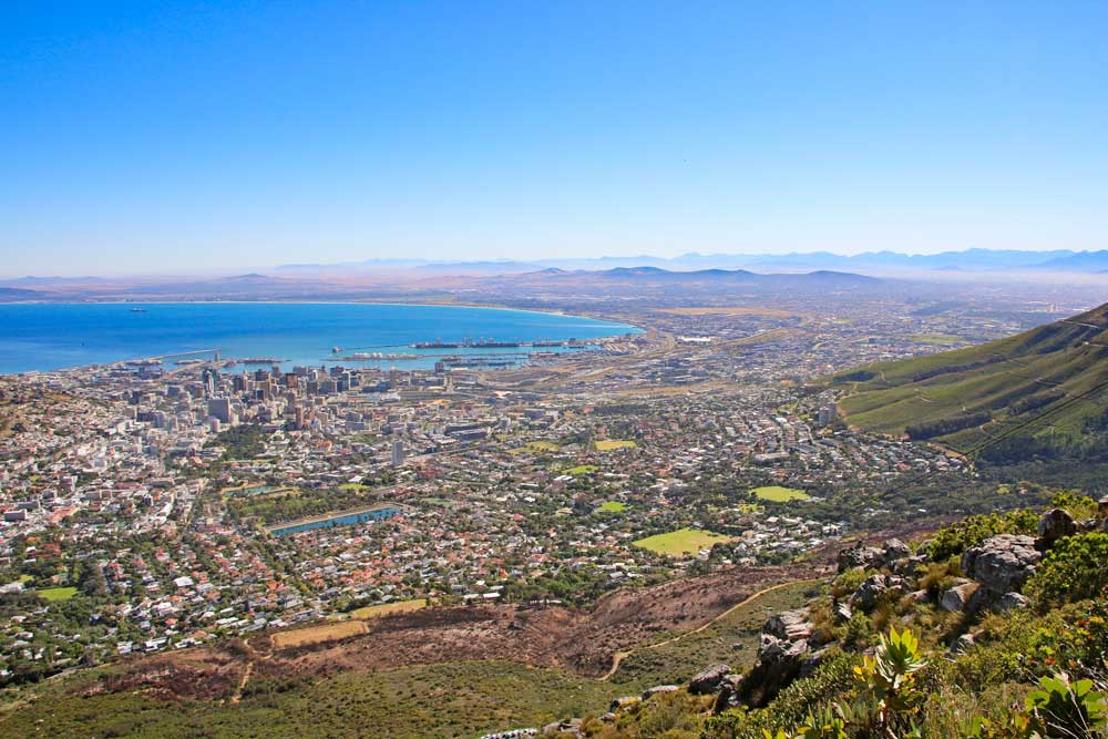 Cape Town and its surrounding from Platteklip Gorge