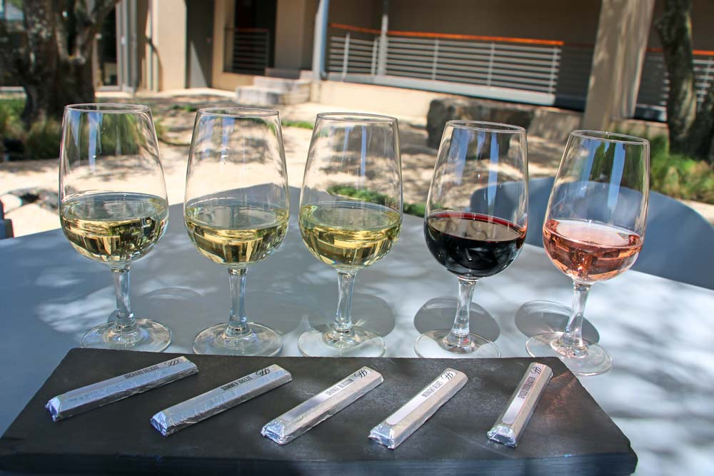 Wine and chocolate pairing at Durbanville on a day trip from Cape Town