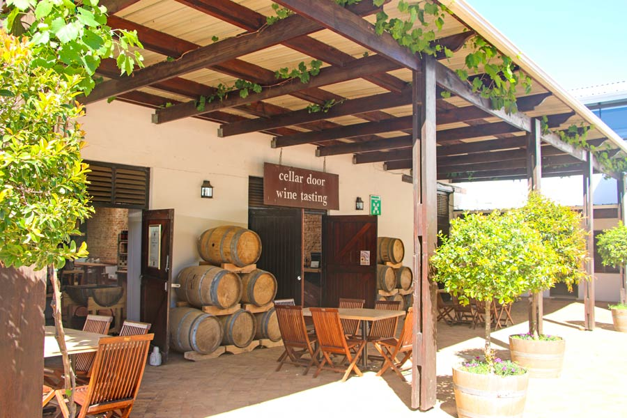 The tasting room at Meerendal