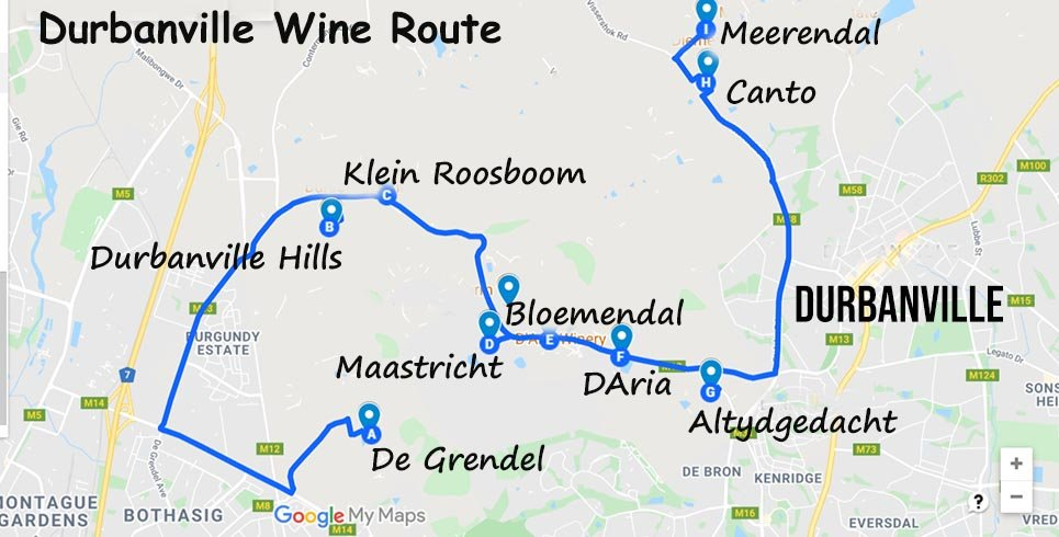 Durbanville Wine Route Map