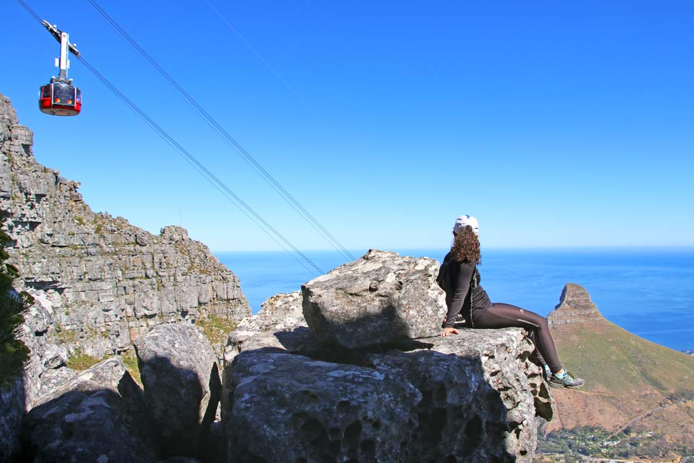 Alya on the India Venster hiking trail in Cape Town