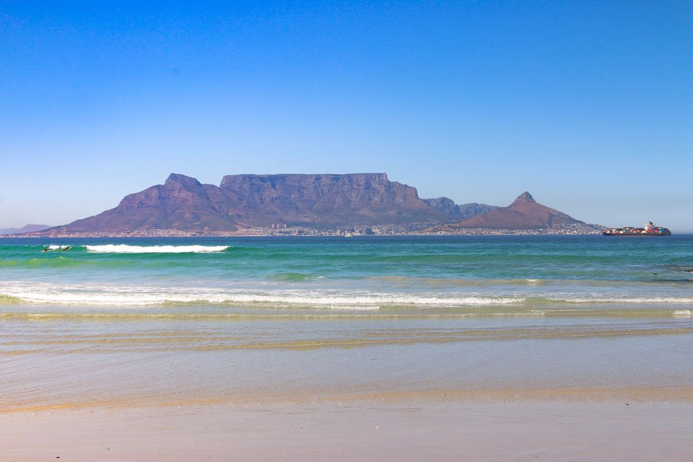 Table Mountain from Blouberg - Honeymoon views