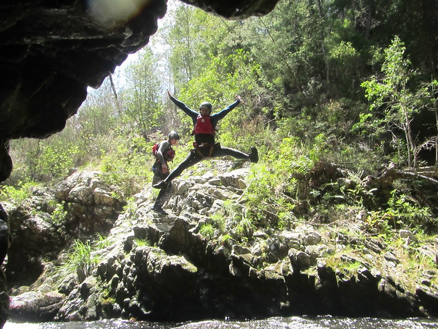 Africanyon jumping on our Garden Route trip