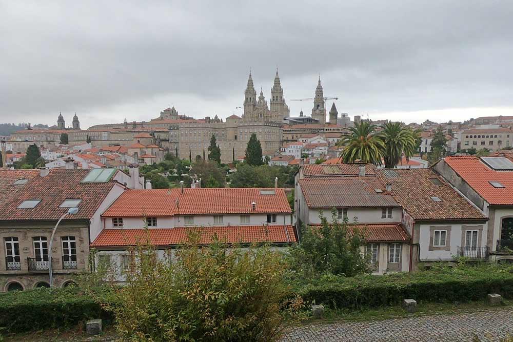 Cathedral of Santiago de Compostela from Alameda Park