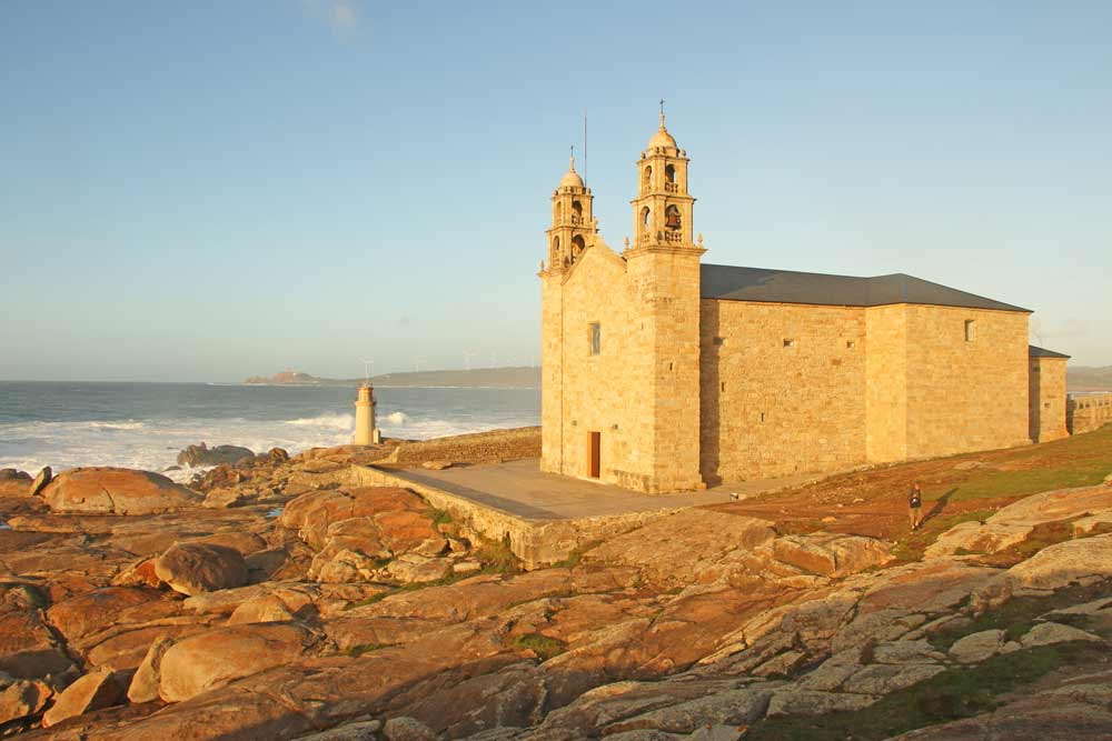 Cape Muxia with a chapel on the rocks