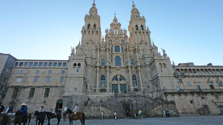The Cathedral of Santiago from Plaza Obradoiro