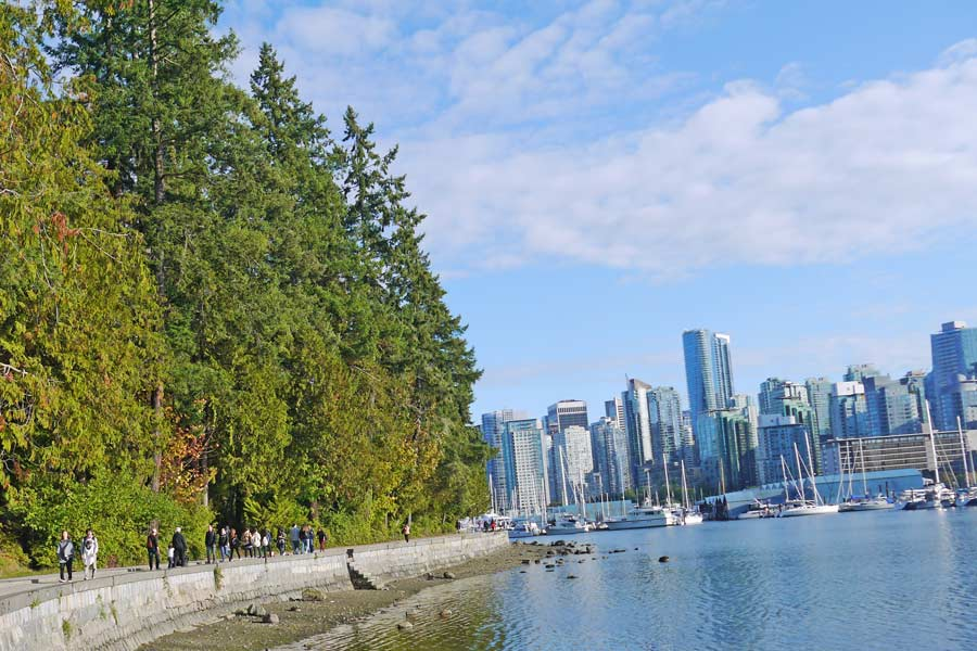 walking on Stanley Park wall one of the best things to do in vancouver