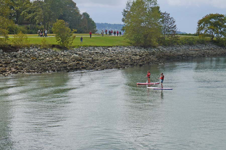 Stand up paddleboarding in Vancouver
