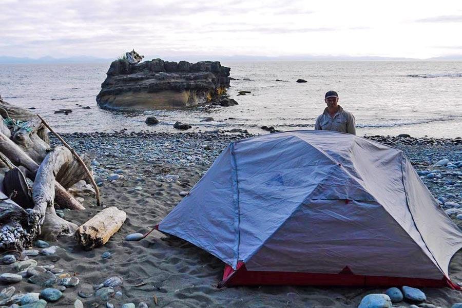 Camping Chin Beach Juan de Fuca Marine Trail