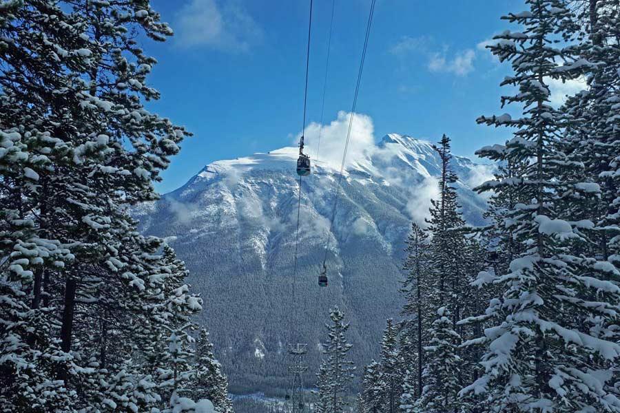 hike Sulphur mountain, Banff gondola