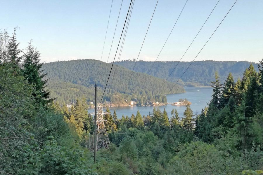 hiking in deep cove from Vancouver