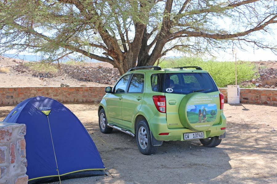 vehicle namibia road trip
