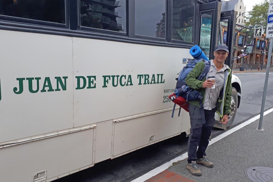 Juan de Fuca trail West Coast Trail Express shuttle bus