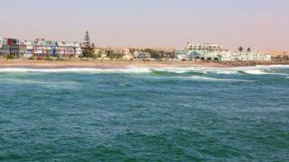 Beachline in Swakopmund, the best town in Namibia